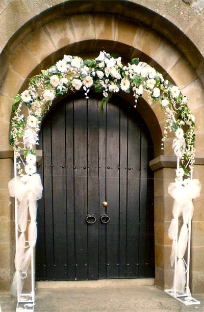 Floral Archway Monaghan Decoration Around Chapel